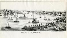 Norfolk and Portsmouth 1850 to 1899 Bird's Eye View - 73x224, Norfolk and Portsmouth 1850 to 1899 Bird's Eye View - 73x224